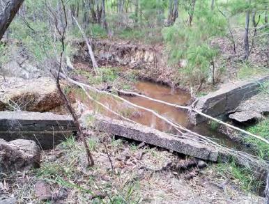 Treen Brook pre restoration