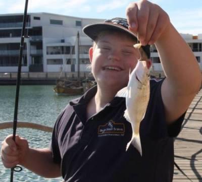 disbaled kid fishability