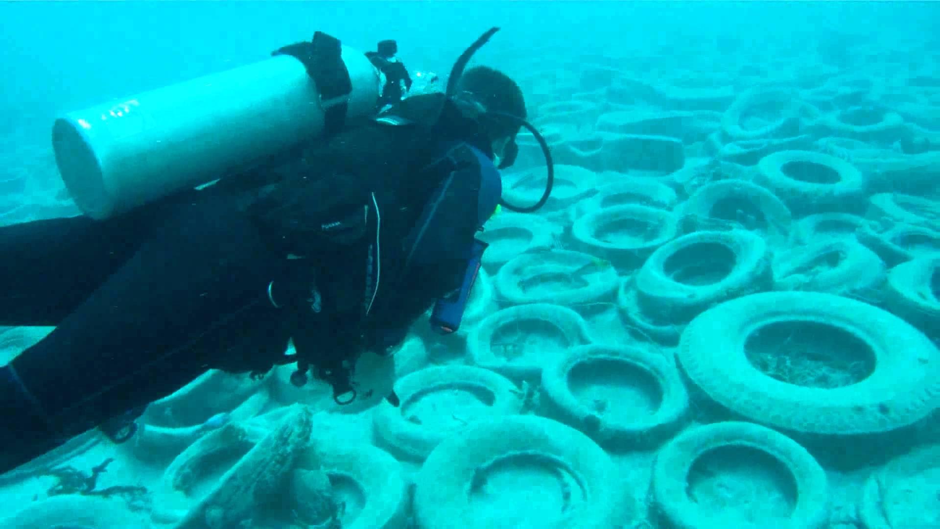 diving tyre reefs