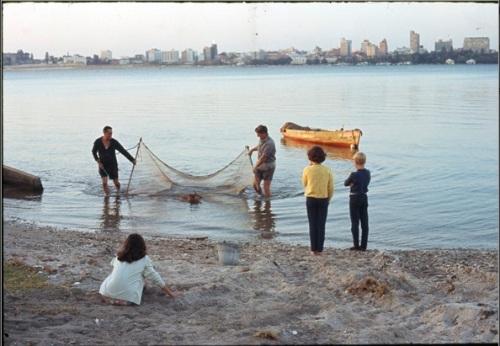 prawning in river 1970's