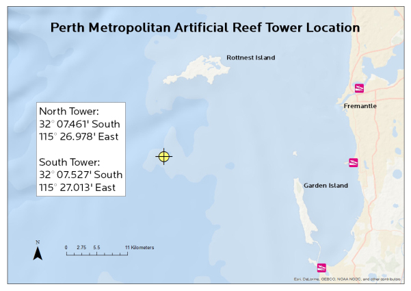 Metro Artificial Reefs V2 coordinates