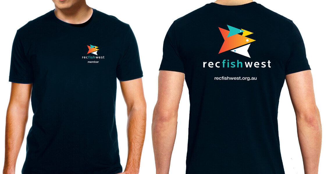 RecFishWest T-Shirt - Black with big logo