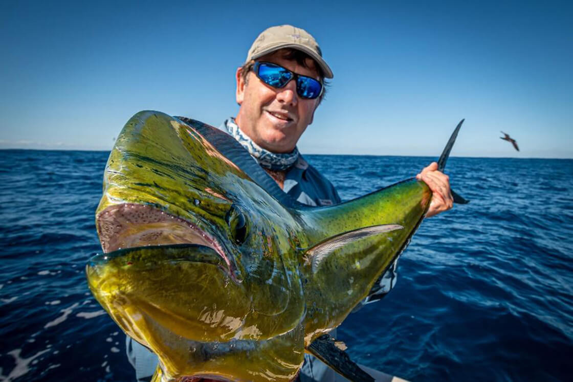 Eddie Shepherd with a superb dolphinfish caught off the metro FADs